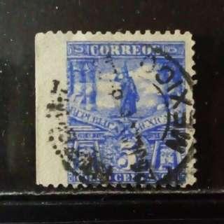 [lapyip1230] 墨西哥(錯體票)1920年 左邊欠齒