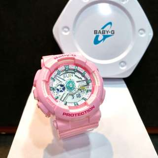 * FREE DELIVERY * Brand New 100% Authentic Casio BabyG Gloss Sweet Pink Baby G Ladies Watch Baby-G BA110CA 4 BA110CA-4ADR
