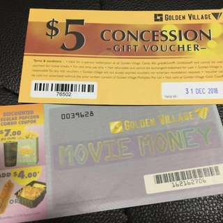 3x Golden Village GV Movie Ticket Vouchers + FREE 2x $5 Candy Bar Vouchers