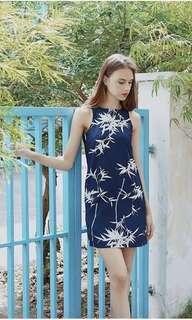 LAB Bamboo Painting Printed shift dress