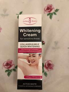 Underarm whitening and cleansing foam