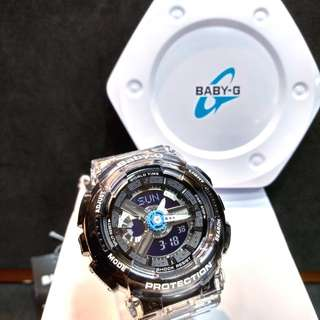 * FREE DELIVERY * Brand New 100% Authentic Casio BabyG Jelly Black Baby G Ladies Watch Baby-G BA110JM 1 BA110JM-1ADR