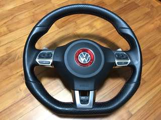 VW GLI Original Flat Bottom Steering Wheel