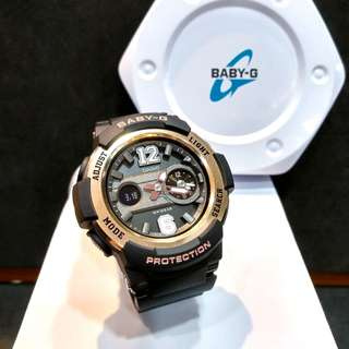 * FREE DELIVERY * Brand New 100% Authentic Casio BabyG Black & Rose Gold Bezel Baby G Ladies Watch Baby-G BGA210 1 BGA210-1ADR