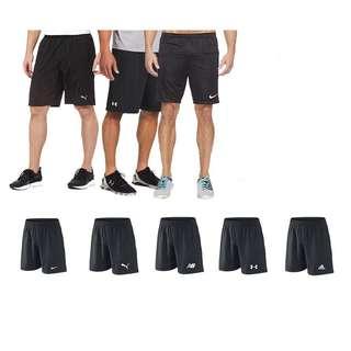 Plain short pants soccer cyclist relax