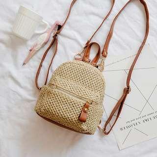 Mini straw backpack (PO)