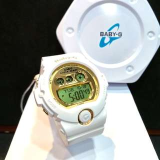 * FREE DELIVERY * Brand New 100% Authentic Casio BabyG Gloss White & Gold Dial Baby G Ladies Digital Watch Baby-G BGD6901 7 BGD6901-7DR