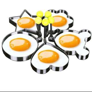 5 pcs/set stainless steel cute shaped fried egg  mold pancake rings kitchen tool