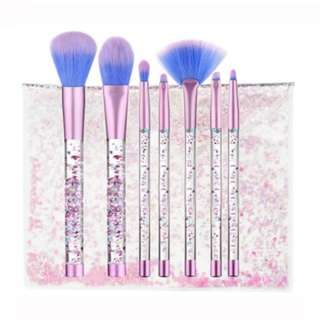 [PO212]7pcs crystal quicksand makeup brush