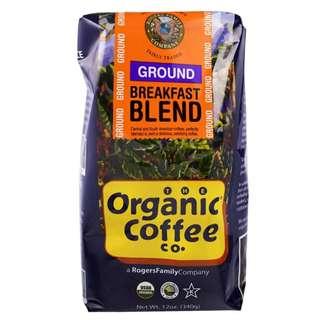 Organic Coffee Co., 有機早餐混合咖啡粉,研磨,340克