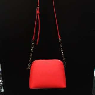 Charles keith red bag