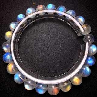 8mm玻璃體月光石手鏈