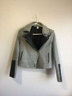 SheIn Grey Leather Coat