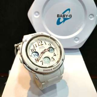 * FREE DELIVERY * Brand New 100% Authentic Casio BabyG White & Gold Index Baby G Ladies Watch Baby-G BGA150 7 BGA150-7ADR