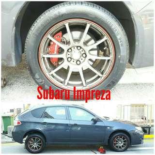 Tyre 205/55 R16 Membat on Subaru Impreza 🐕 Super Offer 🙋♂️