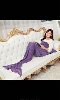 Mermaid Tail Blanket Pashmina Knitted