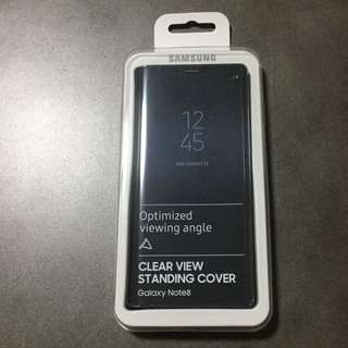Samsung Note 8 Clear View Standing Cover Black