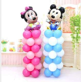 Party balloons decorations stand