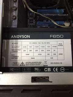 Andyson F650 PSU