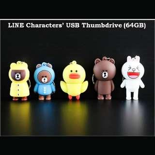 LINE characters thumbdrive / flashdrive