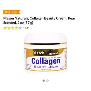 BNIB Masons Natural Collagen Beauty Cream, Pear Scented