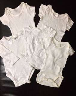Take all white onesies for newborn