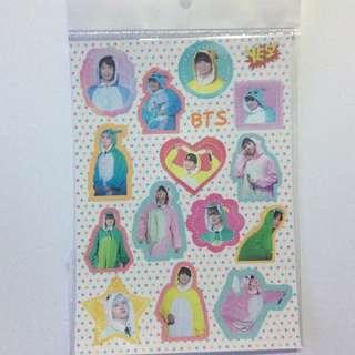 Yes card 偶像貼紙 BTS