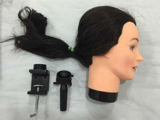 Hairdressing Training head and stand