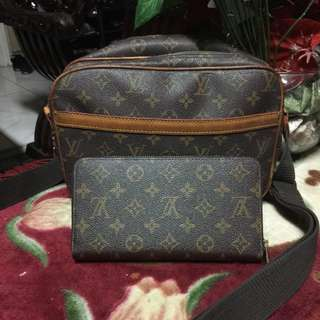 Louis Vuitton Set Messenger and wallet