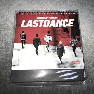 BIGBANG LAST DANCE CALENDAR