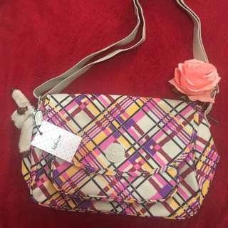 Kipling Bag Cream Plaid Sunita