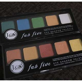 2 Jcat fab five eyeshadow  (ONE IS NEW AND ONE IS USED TWICE)