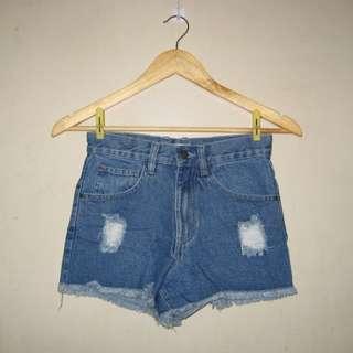 Shana HW distressed shorts