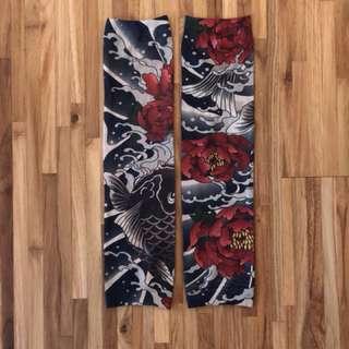 鯉魚刺青袖套 一對 夏天防曬