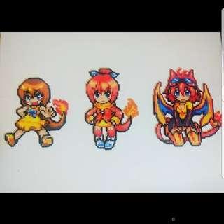 Hama beads design Anime pokemon moemon charmander charizard chameleon