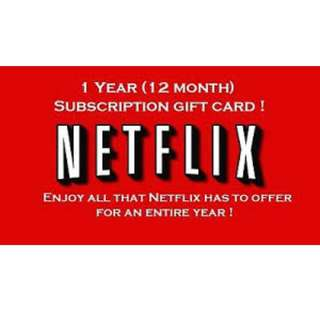 1 year Netflix and Spotify Premium
