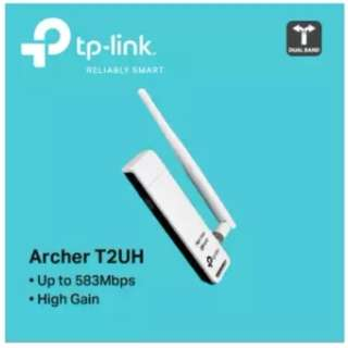 TP-LINK - ARCHER T2UH, AC600 High Gain Wireless Dual Band USB Adapter