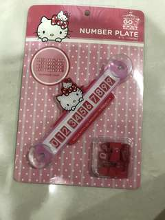 Sanrio Hello Kitty Number Plate