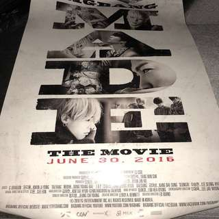 BIGBANG MADE THE MOVIE OFFICIAL POSTER SET
