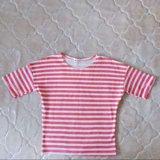 Red and white stripes top