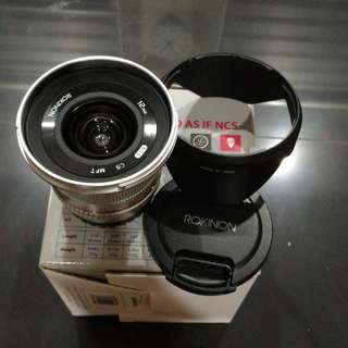 12mm f2 lens for micro 4/3 m43 wode angle for olympus and panasonic