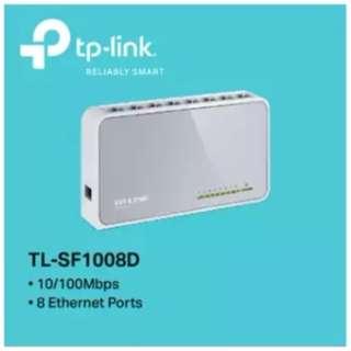 TP-LINK - TL-SF1008D, 8-Port 10/100Mbps Desktop Switch