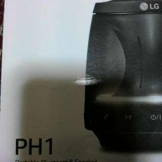 Wireless LG PH1 speaker