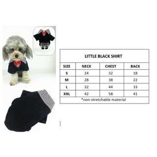 Dog Cat Rabbit Pet Cute Black Shirt