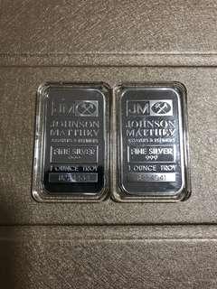 JM 1 oz Silver bar