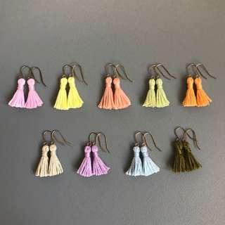 Free Mail! Mini pastel tassel earrings