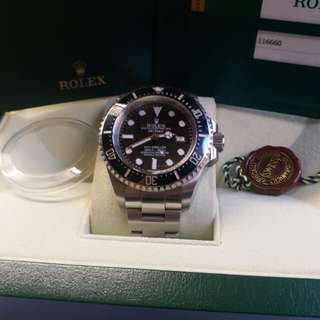 Rolex 116660 Sea-Dweller DeepSea 亂碼卡95新