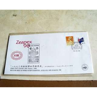 90年新西蘭世界郵票展首日封