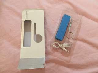 Branc new mini Powerbank with keychain 2600mAh