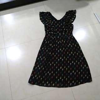 Flowy Owl Printed Dress